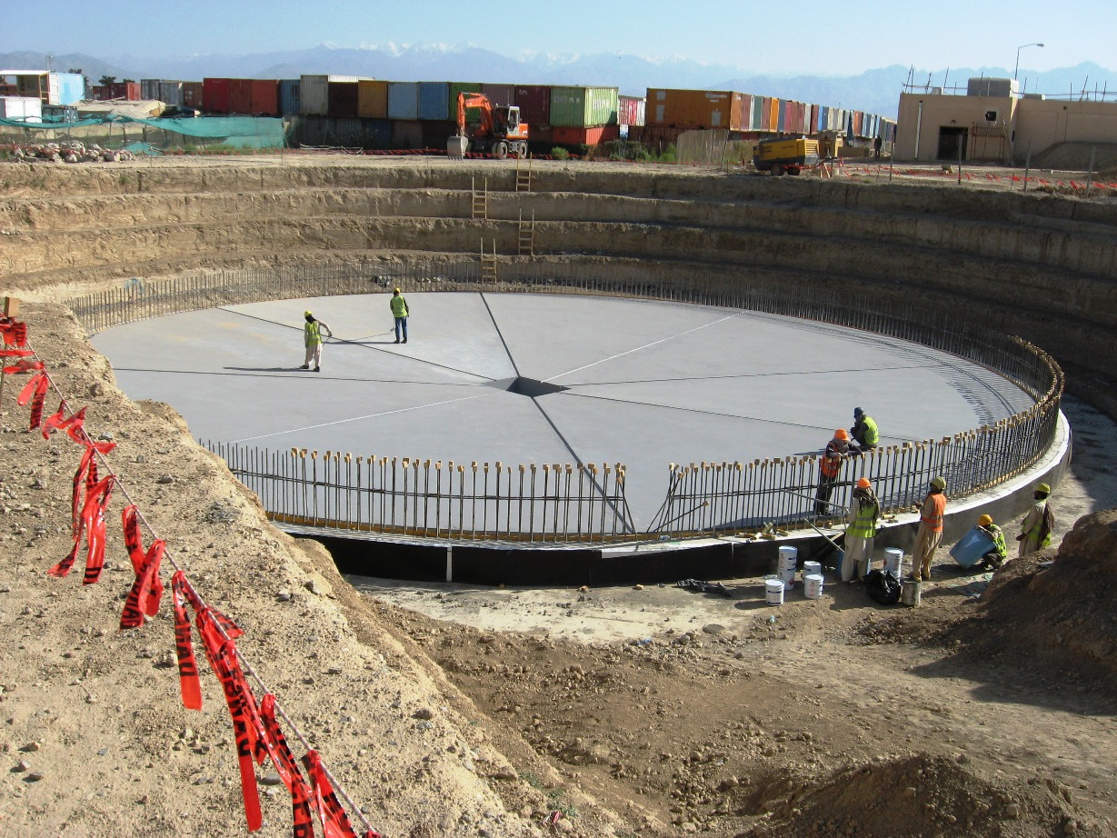 Water Tank Foundations : Fuel tank « the sand castle